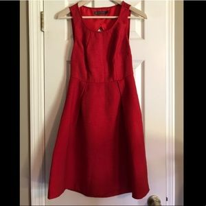 The Limited Outback Red Scarlet Fit & Flare Dress